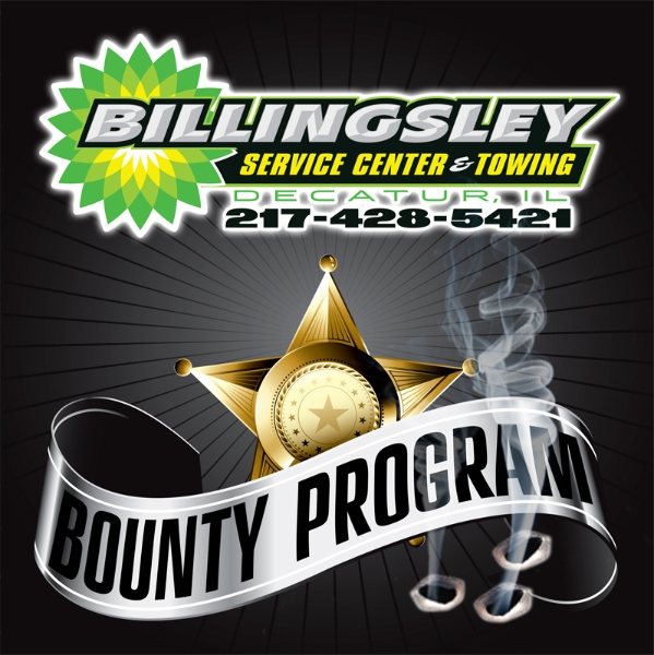 "Decals designed for Billingsley BP's ""Bounty Program"""