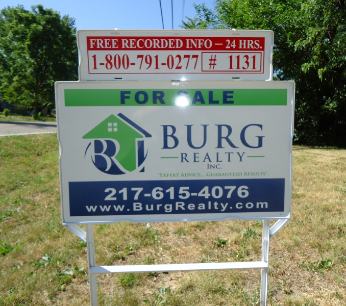 Burg Realty yard signs