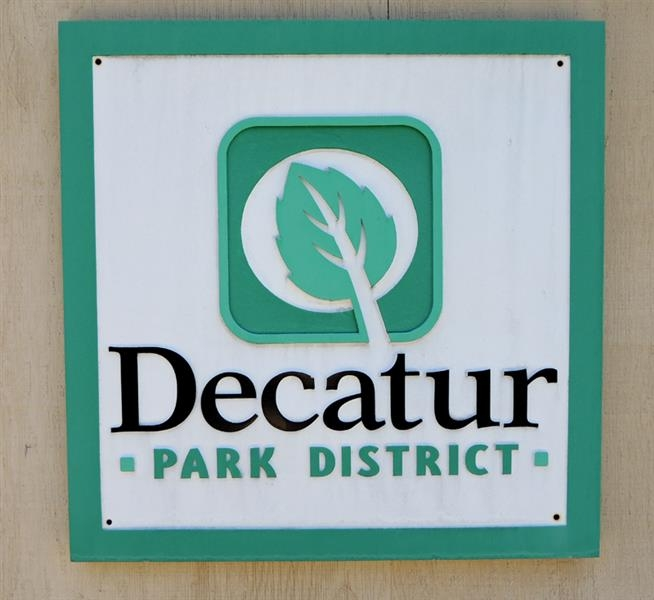 Decatur Park District sandblasted signs