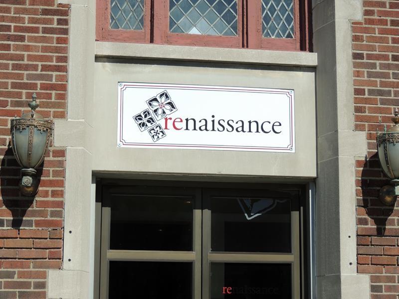 Renaisaance building exterior sign