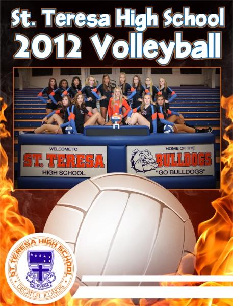 St. Teresa Volleyball Program cover design