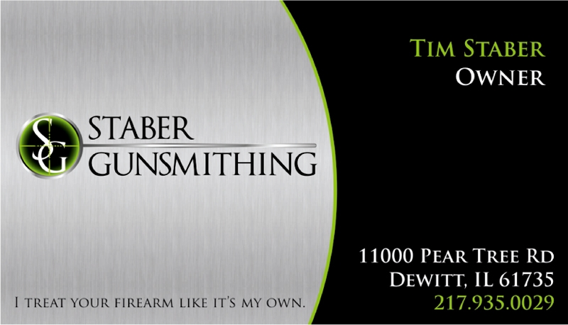 Staber Gunsmithing business card design