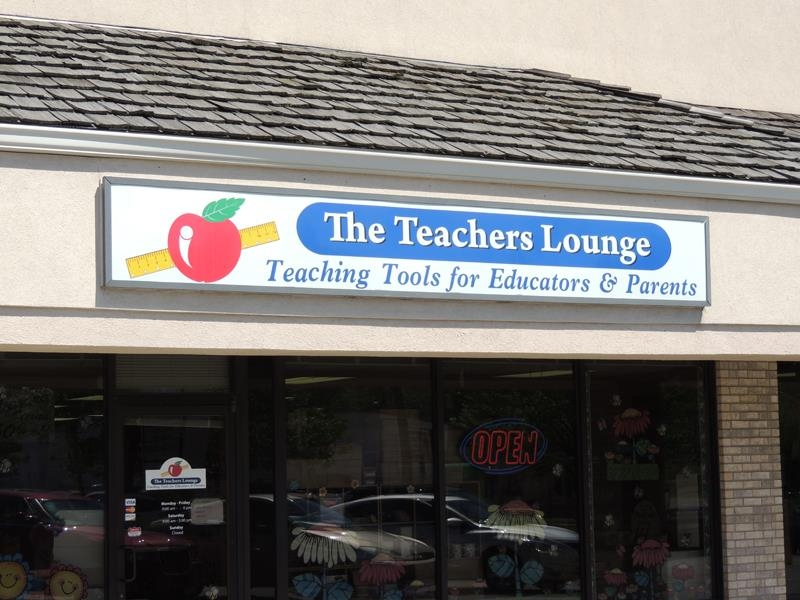 Teachers Lounge building sign